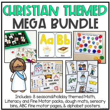 Christian Activities for Preschool, Pre-K and Kindergarten *MEGA BUNDLE*