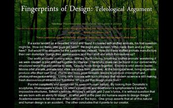 Christian Apologetics - The Teleological Argument