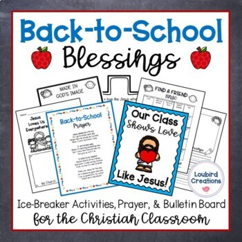 Back-to-School Prayer & Activities for Christian Classroom