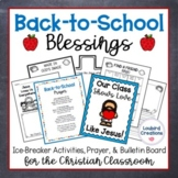 Back to School Prayer and Activities for Christian Classroom