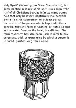 Christian Baptism Handout