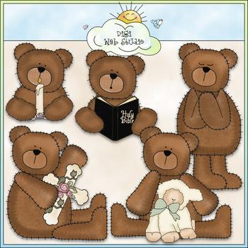 Christian Bears - CU Colored Clip Art