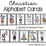 Christian Bible Alphabet Cards