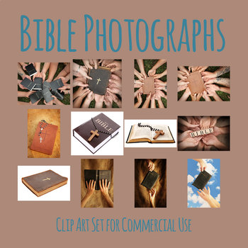 Christian Bible Photos / Photograph Clip Art Set for Commercial use
