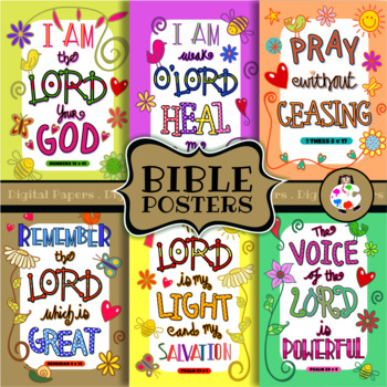 Christian Bible Scripture Verse Poster Printables