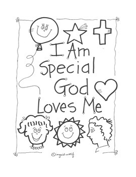 Christian / Catholic I am Special Activity booklet
