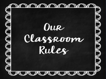 Christian Chalkboard Classroom Rules