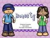 Christian Character Task Cards - Honesty