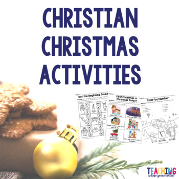 Christian Christmas Activities by Teaching Where You're Called | TpT