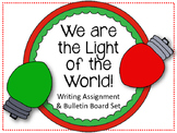 Christian Christmas Bulletin Board Set.  We are the Light of the World!