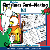 Christian Christmas Card-Making Kit! Poems, Pictures, Text