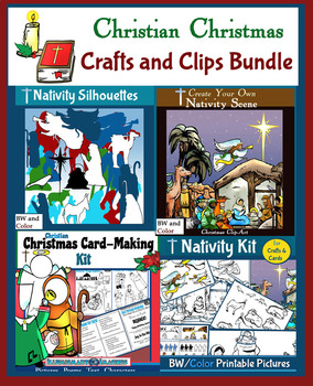 Christian Christmas Crafts.Christian Christmas Clips And Crafts Bundle Printables And Clipart
