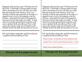 Christian Christmas Customs Flip Book with Non-FIction Passages