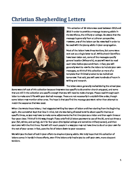 Christian Church  Shepherding Letters for Young Adults, Military, and College