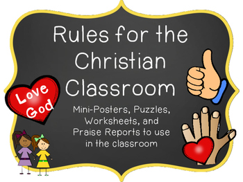 Christian Classroom Rules and Behavior Support