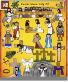 Easter, Religious Clip Art from Charlotte's Clips Catholic - Christian Series