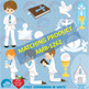 Christian Clipart, First Communion, Boys, Catholic clipart, Catechism, AMB-1261