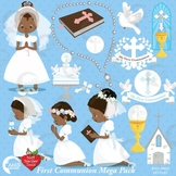 Christian Clipart, First Communion, Girls, Catholic clipart, Catechism, AMB-1917