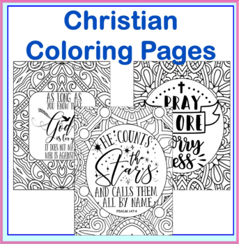 Christian Coloring Pages- 20 Bible and Christian Based Teaching ...