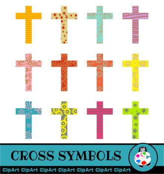 Christian Easter Cross Clip Art Set