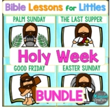 Christian Easter Holy Week Lesson Activities Crafts Games Worksheets Bundle