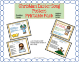 Christian Easter Song & Rhyme Posters Printable Pack