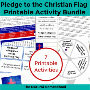 graphic relating to Pledge of Allegiance Words Printable referred to as Christian Flag Pledge Printable Deal ~ 7 Actions