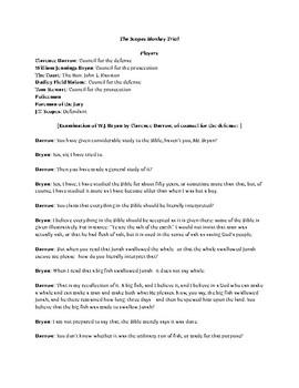 Scopes Monkey Trial - 1920s - trial script