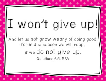 Christian Growth Mindset Posters (BRIGHT BOLD POLKA DOTS) with Bible Verses