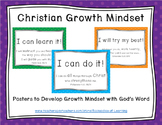 Christian Growth Mindset Posters (BRIGHT BOLD POLKA DOTS)