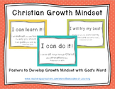 Christian Growth Mindset Posters (SOFT POLKA DOTS) with Bi