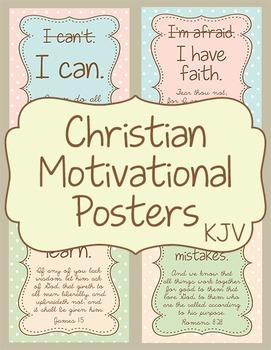 Christian Motivational Posters KJV