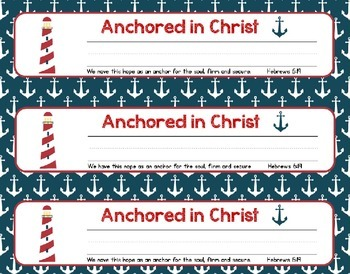 Christian Nautical Nameplates and Matching Scripture Posters