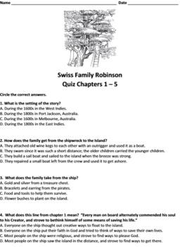 christian novel study the swiss family robinson by johann david wyss rh teacherspayteachers com Swiss Family Robinson Cartoon Swiss Family Robinson Treehouse
