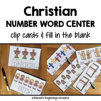 Christian Number Word Center Cards