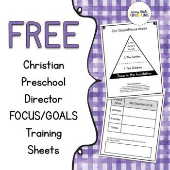Christian Preschool Director - Focus Training Sheets