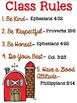 Christian School Biblical Class Rules Farm Theme