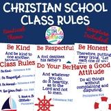 Christian School Biblical Class Rules Nautical Theme