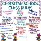 Christian School Biblical Class Rules Superhero Theme
