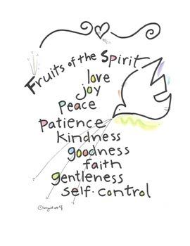 Christian Scriptural Fruits of the Spirit booklet