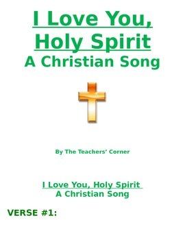 Christian Song: I Love You, Holy Spirit