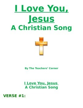 Christian Song: I Love You, Jesus
