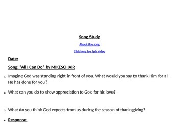 Christian Song Study