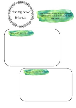 Christian Studies - making new friends printable template