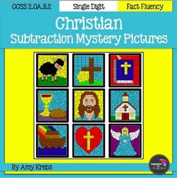 Christian Subtraction Mystery Pictures