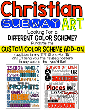 Christian Subway Art Posters