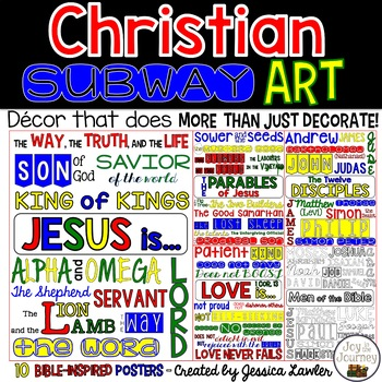Christian Subway Art Posters