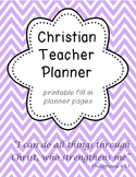 Christian Teacher Planner