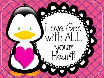 Christian Valentine's Day Bulletin Board Set. Love God with ALL your heart!!