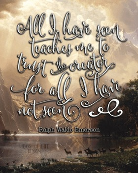 Ralph Waldo Emerson quote printable poster | Christian quote | 16x20 11x14 8x10